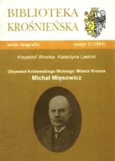 Michał Mięsowicz : obywatel Królewskiego Wolnego Miasta Krosna