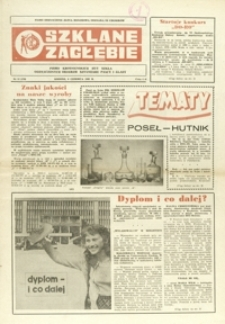 Szklane Zagłębie : pismo Krośnieńskich Hut Szkła odznaczonych Orderem Sztandaru Pracy I klasy. - 1983, nr 11 (6 czerw.) = 170