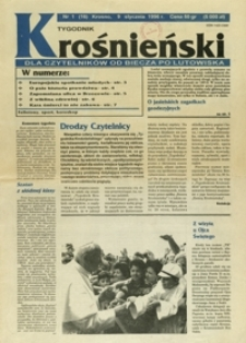 Tygodnik Krośnieński : pismo regionalne. - 1996, nr 1 (9 stycz.) = 16
