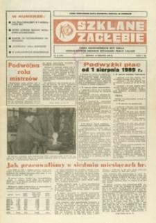 Szklane Zagłębie : pismo Krośnieńskich Hut Szkła odznaczonych Orderem Sztandaru Pracy I klasy. - 1989, nr 15 (23 sierp.) = 317