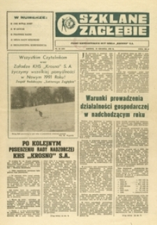 """Szklane Zagłębie : pismo Krośnieńskich Hut Szkła """"Krosno"""" S.A. - 1990, nr 22 (29 grudz.) = 347"""