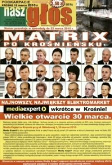 Nasz Głos : ilustrowany tygodnik regionalny. - 2010, nr 11 (16 marz.) = 356