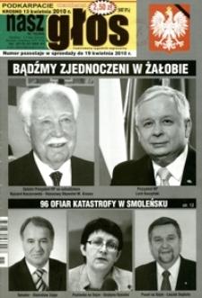 Nasz Głos : ilustrowany tygodnik regionalny. - 2010, nr 15 (13 kwiec.) = 360