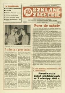 Szklane Zagłębie : pismo Krośnieńskich Hut Szkła odznaczonych Orderem Sztandaru Pracy I klasy. - 1987, nr 17 (10 wrzes.) = 271