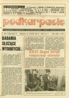 Podkarpacie : tygodnik Polskiej Zjednoczonej Partii Robotniczej. - R. 11, nr 9 (26 luty 1981) = 542