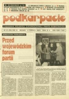Podkarpacie : tygodnik Polskiej Zjednoczonej Partii Robotniczej. - R. 11, nr 23 (4 czerw. 1981) = 556