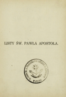 Listy św. Pawła apostoła