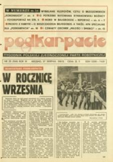 Podkarpacie : tygodnik Polskiej Zjednoczonej Partii Robotniczej. - R. 11, nr 35 (27 sierp. 1981) = 568
