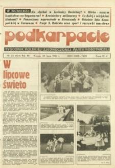Podkarpacie : tygodnik Polskiej Zjednoczonej Partii Robotniczej. - R. 12, nr 22 (29 lip. 1982) = 604