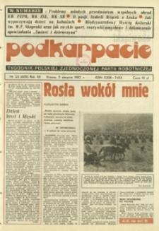 Podkarpacie : tygodnik Polskiej Zjednoczonej Partii Robotniczej. - R. 12, nr 23 (5 sierp. 1982) = 605