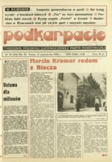 Podkarpacie : tygodnik Polskiej Zjednoczonej Partii Robotniczej. - R. 12, nr 34 (21 paźdz. 1982) = 616
