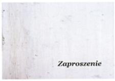 Otwarcie wystawy prac (malarstwo, rzeźba) Roberta Myszkala, Krzysztofa Śliwki [Zaproszenie]