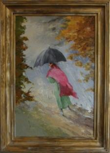 Deszczowy spacer [Dokument ikonograficzny]