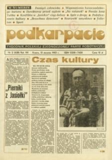 Podkarpacie : tygodnik Polskiej Zjednoczonej Partii Robotniczej. - R. 13, nr 2 (13 stycz. 1983) = 628