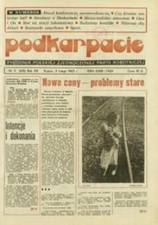 Podkarpacie : tygodnik Polskiej Zjednoczonej Partii Robotniczej. - R. 13, nr 5 (3 luty 1983) = 631
