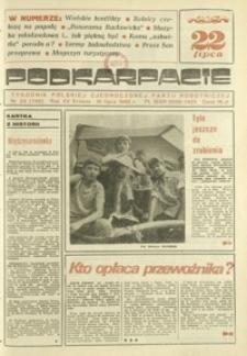 Podkarpacie : tygodnik Polskiej Zjednoczonej Partii Robotniczej. - R. 15, nr 29 (18 lip. 1985) = 759