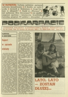 Podkarpacie : tygodnik Polskiej Zjednoczonej Partii Robotniczej. - R. 15, nr 34 (22 sierp. 1985) = 764