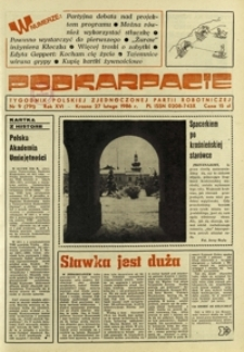 Podkarpacie : tygodnik Polskiej Zjednoczonej Partii Robotniczej. - R. 16, nr 9 (27 luty 1986) = 791