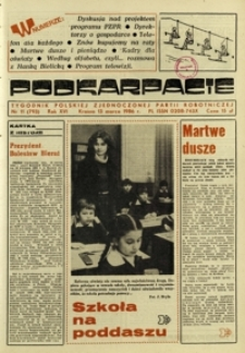 Podkarpacie : tygodnik Polskiej Zjednoczonej Partii Robotniczej. - R. 16, nr 11 (13 marz. 1986) = 793