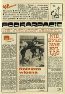 Podkarpacie : tygodnik Polskiej Zjednoczonej Partii Robotniczej. - R. 17, nr 17 (23 kwiec. 1987) = 851