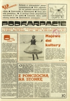 Podkarpacie : tygodnik Polskiej Zjednoczonej Partii Robotniczej. - R. 17, nr 19 (7 maj 1987) = 853