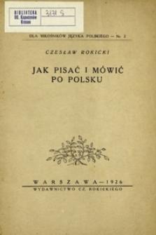 Jak pisać i mówić po polsku