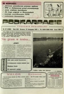 Podkarpacie : tygodnik regionalny. - R. 21, nr 47 (21 list. 1991) = 1089