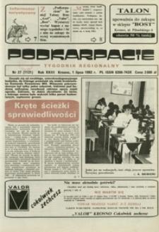 Podkarpacie : tygodnik regionalny. - R. 23, nr 27 (1 lip. 1992) = 1121