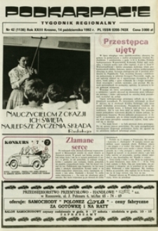 Podkarpacie : tygodnik regionalny. - R. 23, nr 42 (14 paźdz. 1992) = 1136