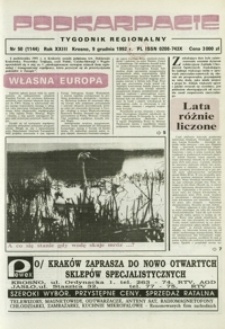Podkarpacie : tygodnik regionalny. - R. 23, nr 50 (9 grudz. 1992) = 1144