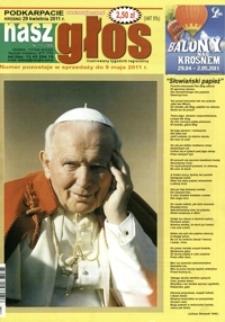 Nasz Głos : ilustrowany tygodnik regionalny. - 2011, nr 17 (29 kwiec.) = 399