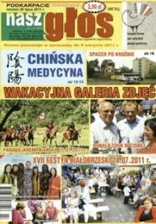 Nasz Głos : ilustrowany tygodnik regionalny. - 2011, nr 27 (26 lip.) = 409