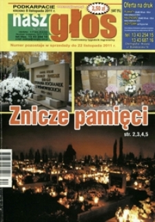 Nasz Głos : ilustrowany tygodnik regionalny. - 2011, nr 34 (8 list.) = 416