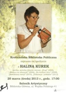 Spotkanie z Haliną Kurek [Afisz]
