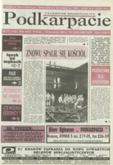 Podkarpacie : tygodnik regionalny. - R. 24, nr 17 (28 kwiec. 1993) = 1164