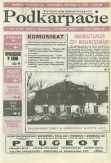 Nowe Podkarpacie : tygodnik regionalny. - R. 1, nr 2 (14 lip. 1993) = 2