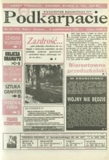 Nowe Podkarpacie : tygodnik regionalny. - R. 1, nr 14 (6 paźdz. 1993) = 14