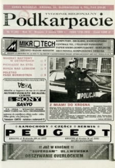 Nowe Podkarpacie : tygodnik regionalny. - R. 2, nr 9 (2 marz. 1994) = 35