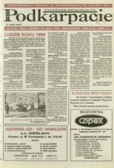 Nowe Podkarpacie : tygodnik regionalny. - R. 2, nr 13 (29 marz. 1995) = 91