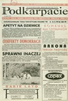Nowe Podkarpacie : tygodnik regionalny. - R. 4, nr 38 (20 wrzes. 1995) = 116