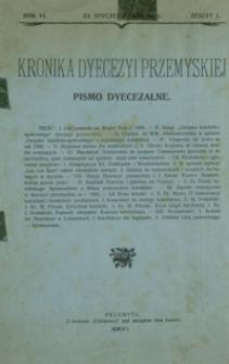 Kronika Dyecezyi Przemyskiej : pismo dyecezalne. - R. 6, z. 1 (stycz. 1906)