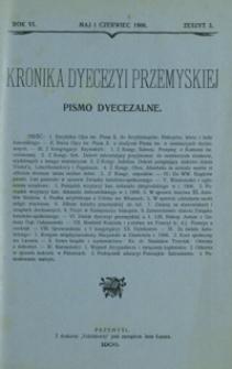 Kronika Dyecezyi Przemyskiej : pismo dyecezalne. - R. 6, z. 3 (maj/czerw. 1906)