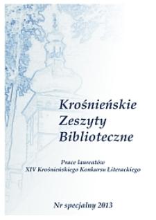Krośnieńskie Zeszyty Biblioteczne. - Nr specjalny (2013)