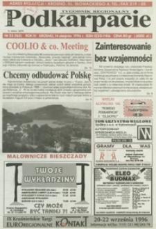 Nowe Podkarpacie : tygodnik regionalny. - R. 4, nr 33 (14 sierp. 1996) = 163