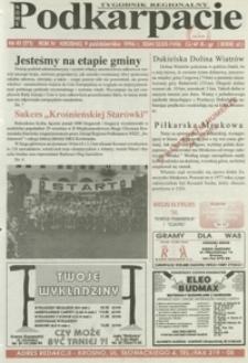 Nowe Podkarpacie : tygodnik regionalny. - R. 4, nr 41 (9 paźdz. 1996) = 171
