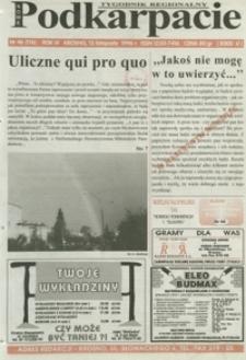 Nowe Podkarpacie : tygodnik regionalny. - R. 4, nr 46 (13 list. 1996) = 176