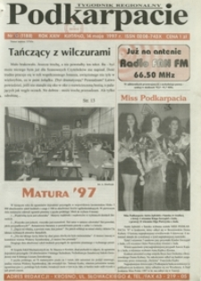 Podkarpacie : tygodnik regionalny. - R. 24, nr 15 (14 maj 1997) = 1188