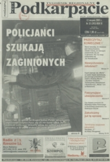 Nowe Podkarpacie : tygodnik regionalny. - R. 9, nr 32 (12 sierp. 2001) = 393