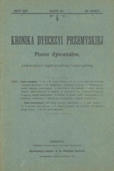 Kronika Dyecezyi Przemyskiej : pismo dyecezalne, zawierające: część urzędową i nieurzędową. - Rocz. 1, z. 8 (sierp. 1901)