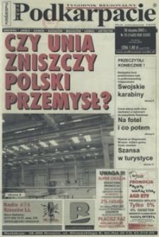 Nowe Podkarpacie : tygodnik regionalny. - R. 33, nr 35 (28 sierp. 2002) = 1660